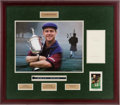 Autographs:Photos, Payne Stewart Signed Display. ...