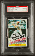 Baseball Cards:Singles (1970-Now), Unopened 1979 Topps Cello Pack With Pete Rose #650 PSA Gem MT10....