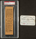 Baseball Collectibles:Tickets, 1915 Indianapolis Baseball Club Season Pass and 1925 World SeriesProof Ticket....