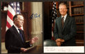 Miscellaneous Collectibles:General, George H.W. Bush and Jimmy Carter Signed Photographs Lot of 2....