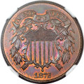 Two Cent Pieces, 1872 2C MS64 Brown NGC....