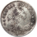 Early Dimes, 1804 10C 14 Stars on Reverse -- Damaged, Bent, Corroded, Cleaned --ANACS. XF Details. JR-2, R.5....