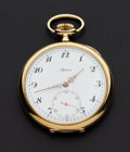 Timepieces:Pocket (post 1900), Alpina 51 mm 14k Gold Pocket Watch. ...