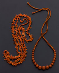 Branch & Bead Coral Necklaces