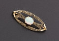 Estate Jewelry:Brooches - Pins, Fine Opal & Gold Brooch. ...