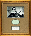 Music Memorabilia:Autographs and Signed Items, Roy Orbison Autograph Display. ...