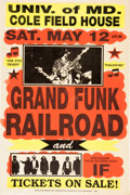 Music Memorabilia:Posters, Grand Funk Railroad Cole Field House Concert Poster (1973)....