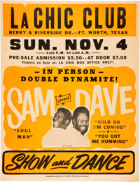 Sam and Dave Fort Worth Concert Poster (1973)