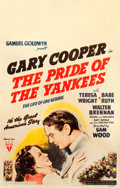 "Movie Posters:Sports, The Pride of the Yankees (RKO, 1942). Window Card (14"" X 22"").. ..."