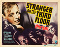 "Movie Posters:Film Noir, Stranger on the Third Floor (RKO, 1940). Title Lobby Card (11"" X14"").. ..."
