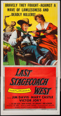 "Movie Posters:Western, Last Stagecoach West (Republic, 1957). Three Sheet (41"" X 79""). Western.. ..."
