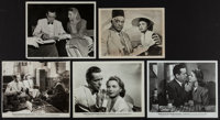"Casablanca (Warner Brothers, 1942). Photos (5) (7"" X 9.5"", 8"" X 9.5"" & 8"" X 10"")..."