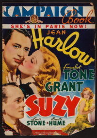 """Suzy (MGM, 1936). Pressbook (Multiple Pages, 14"""" x 19.75"""") & Herald (7"""" X 11""""). Drama"""