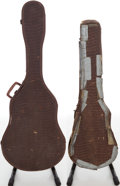 Musical Instruments:Acoustic Guitars, 1950s Gibson Brown Alligator Soft Case Lot of 2. ...