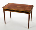 Furniture : French, A FRENCH LOUIS XVI-STYLE MAHOGANY, LACQUER AND GILT BRONZE BUREAU PLAT ATTRIBUTED TO HENRI DASSON . Attributed t...