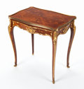 Decorative Arts, French:Other , A FRENCH LOUIS XV-STYLE KINGWOOD, SATINWOOD AND GILT BRONZETABLE À ÉCRIRE ATTRIBUTED TO FRANÇOIS LINKE . Attrib...