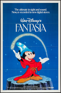 "Fantasia (Buena Vista, R-1982). One Sheet (27"" X 41""). Animation"