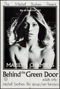 "Behind the Green Door (Mitchell Brothers Film Group, 1972). One Sheet (24"" X 35.5""). Adult"