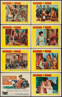 "Esther and the King (20th Century Fox, 1960). Lobby Card Set of 8 (11"" X 14""). Action. ... (Total: 8 Items)"