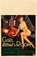"Movie Posters:Comedy, Girl Without a Room (Paramount, 1933). Window Card (14"" X 22"")....."