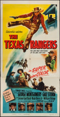 "Movie Posters:Western, The Texas Rangers (Columbia, 1951). Three Sheet (41"" X 79.5"").Western.. ..."