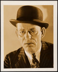 """Movie Posters:Crime, Lon Chaney in The Unholy Three by George Hurrell (MGM, 1930).Portrait Photo (8"""" X 10"""").. ..."""