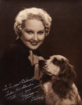 "Movie Posters:Photo, Thelma Todd by Bud ""Stax"" Graves (Hal Roach, 1934). AutographedPortrait Photo (10.5"" X 13.5"").. ..."