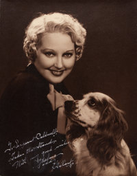 "Thelma Todd by Bud ""Stax"" Graves (Hal Roach, 1934). Autographed Portrait Photo (10.5"" X 13.5"")"
