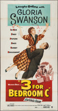 "Movie Posters:Comedy, Three for Bedroom C (Warner Brothers, 1952). Three Sheet (41"" X79""). Comedy.. ..."