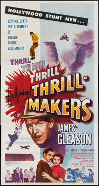 "Hollywood Thrill Makers (Lippert, 1954). Three Sheet (41"" X 76""). Action"