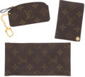 Luxury Accessories:Accessories, Set of Three; Louis Vuitton by French Company Monogram CanvasCredit Card Holder, Sunglasses Case, and Leather Pochette Keycha...(Total: 3 Items)