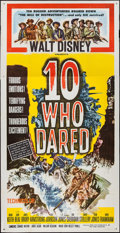 """Movie Posters:Western, Ten Who Dared (Buena Vista, 1960). Three Sheet (41"""" X 78"""") &Lobby Card Set of Eight (11"""" X 14""""). Western.. ... (Total: 9 Items)"""
