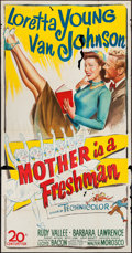 "Movie Posters:Comedy, Mother is a Freshman (20th Century Fox, 1949). Three Sheet (41"" X78.5""). Comedy.. ..."