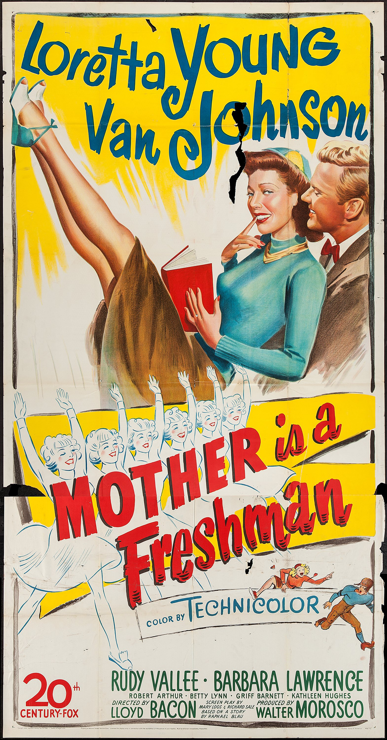 "Mother is a Freshman (20th Century Fox, 1949). Three Sheet (41"" X 