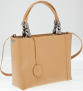 Luxury Accessories:Bags, Christian Dior Tan Leather Top Handle Bag with Shoulder Strap. ...