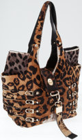 Luxury Accessories:Bags, Jimmy Choo Leopard Print Ponyhair Hobo Tote Bag. ...