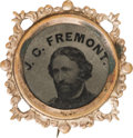 Political:Ferrotypes / Photo Badges (pre-1896), John C. Fremont: 1864 Ferrotype Badge....