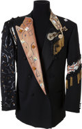 Music Memorabilia:Documents, Johnnie Taylor Stage-Worn Armani-Mani Black Jacket....