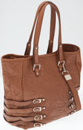 Luxury Accessories:Bags, Jimmy Choo Snakeskin and Tan Leather Tote Bag . ...
