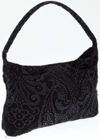 Dolce & Gabbana Black Velvet and Beaded Bag