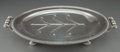 Silver Holloware, British:Holloware, A GEORGE III SHEFFIELD SILVER PLATED SERVING PLATTER WITH RESERVOIR. Maker unknown, Sheffield, England, circa 1800. Unmark...