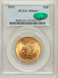 Indian Eagles, 1911 $10 MS64+ PCGS. CAC....