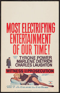 """Witness for the Prosecution (United Artists, 1958). Window Card (14"""" X 22""""). Mystery"""