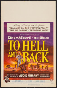 "To Hell and Back (Universal International, 1955). Window Card (14"" X 22""). War"