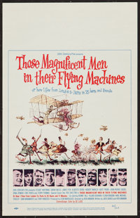 "Those Magnificent Men in Their Flying Machines (20th Century Fox, 1965). Window Card (14"" X 22""). Adventure..."
