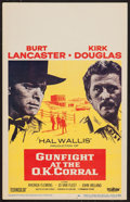 """Movie Posters:Western, Gunfight at the O.K. Corral (Paramount, 1957). Window Card (14"""" X22""""). Western.. ..."""