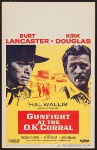 "Gunfight at the O.K. Corral (Paramount, 1957). Window Card (14"" X 22""). Western"