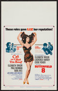 "Movie Posters:Drama, Cat on a Hot Tin Roof/Butterfield 8 Combo (MGM, R-1966). Window Card (14"" X 22""). Drama.. ..."
