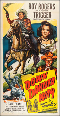 "Down Dakota Way (Republic, 1949). Three Sheet (41"" X 79.5""). Western"