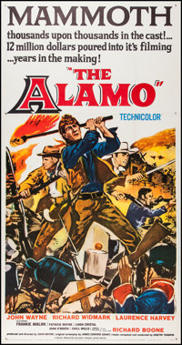 "The Alamo (United Artists, 1960). Three Sheet (41"" X 79""). Western"